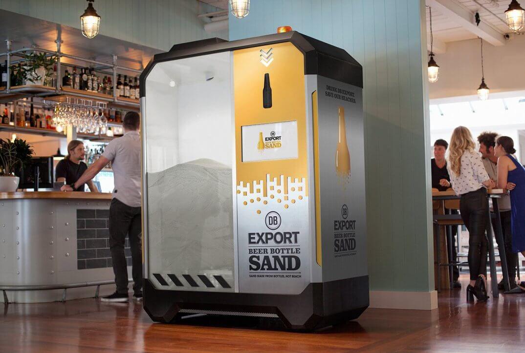 Автомат для переработки стеклянных бутылок в песок